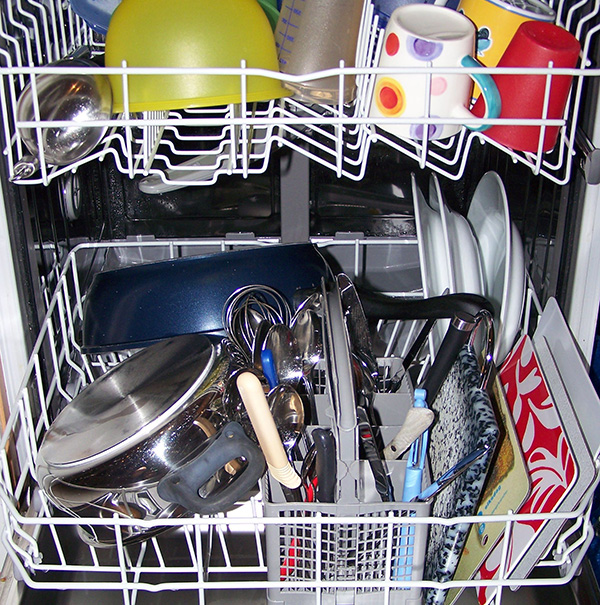 low water dishwasher