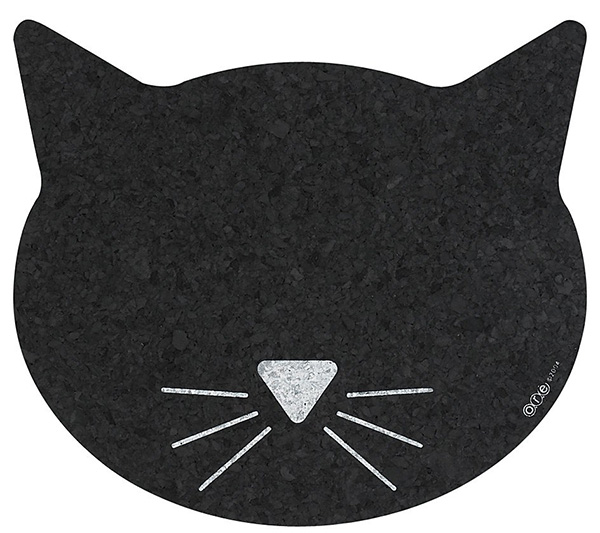 recycled rubber cat placemat ore pet