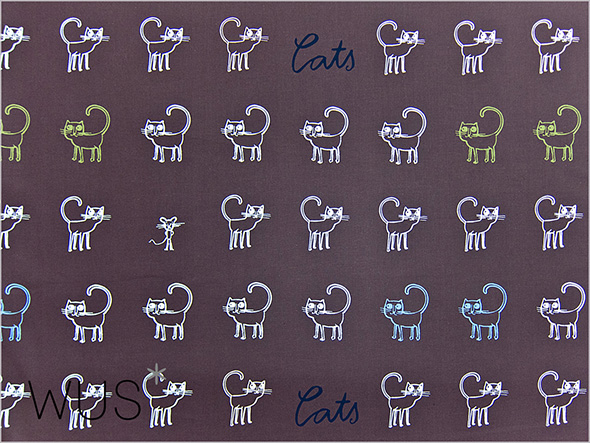 caat print organic cotton fabric