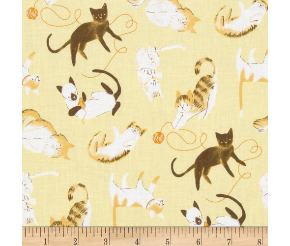 gold cloth fabric for crafts organic cats