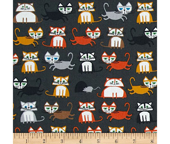 cloud 9 organic cotton cat pring fabric sewing