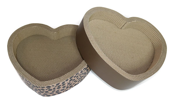 cat cardboard scratcher, heart bed, valentine's gift for cat
